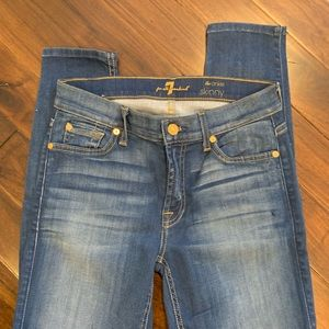 7 for all mankind ankle skinny nwot